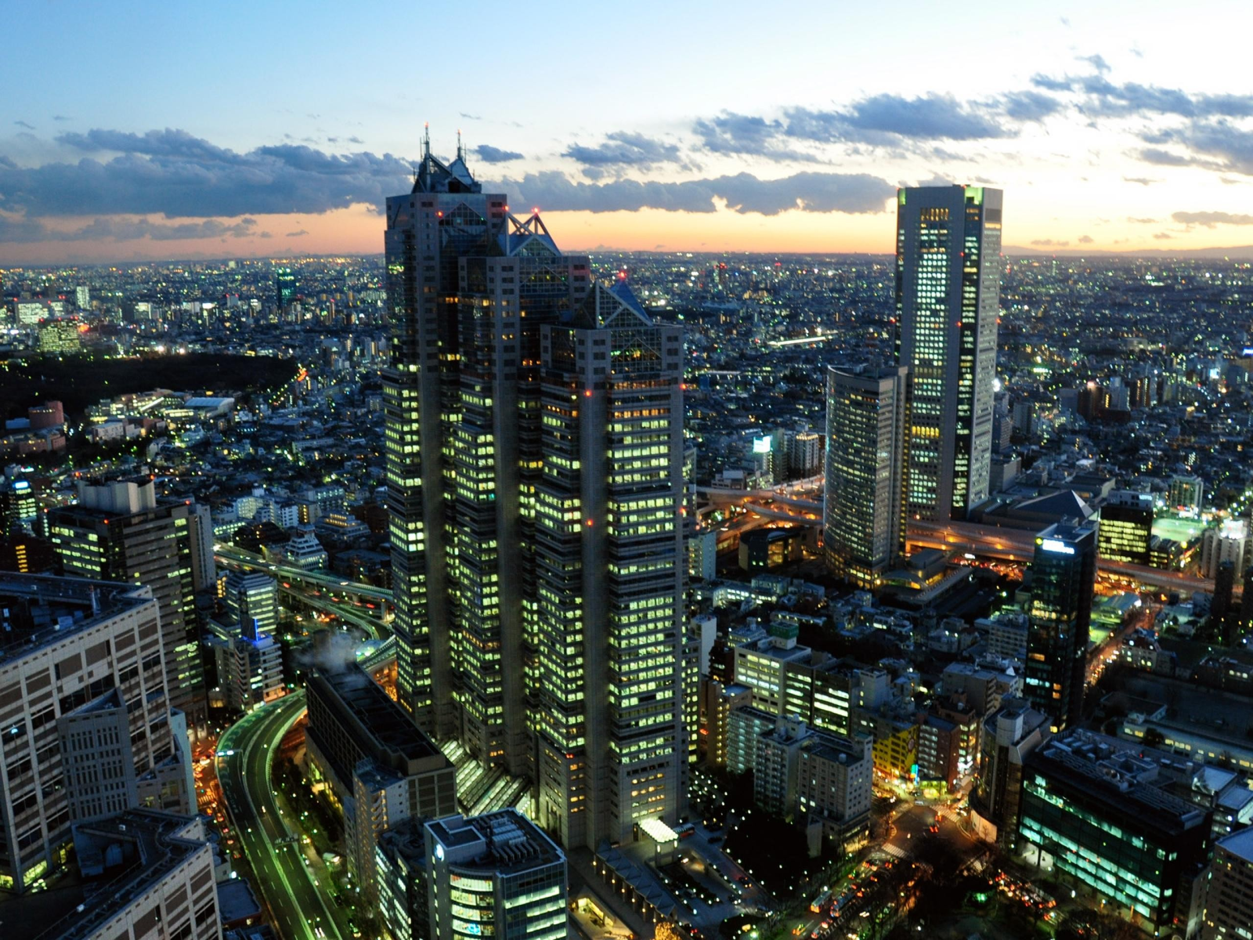 Tokyo Wallpaper Japan Tokyo City Night Photography Wallpaper 2560x1920