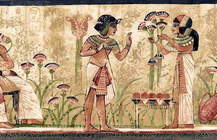 Wallpaper Border Egypt Egyptian Hieroglyphics Dark Edge Banding eBay 699x453