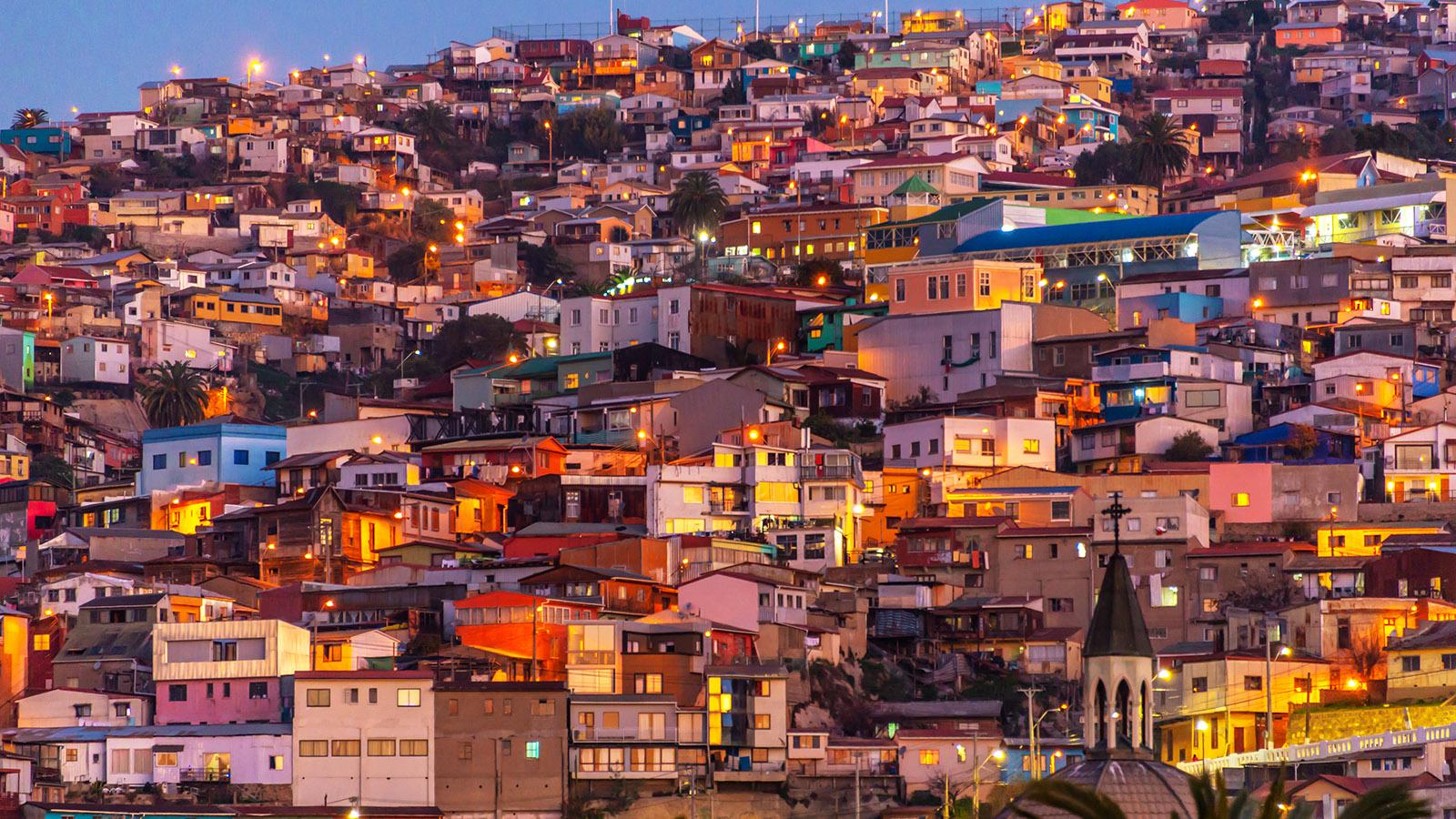 Spanish Language Chilean Culture Valparaiso Chile High 1600x900