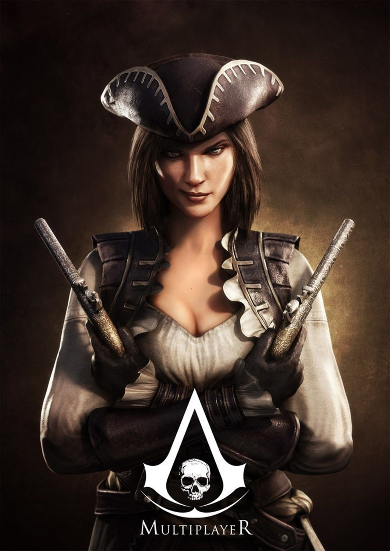 Assassins Creed 4 Multiplayer Femlae wallpaper 1280x1810
