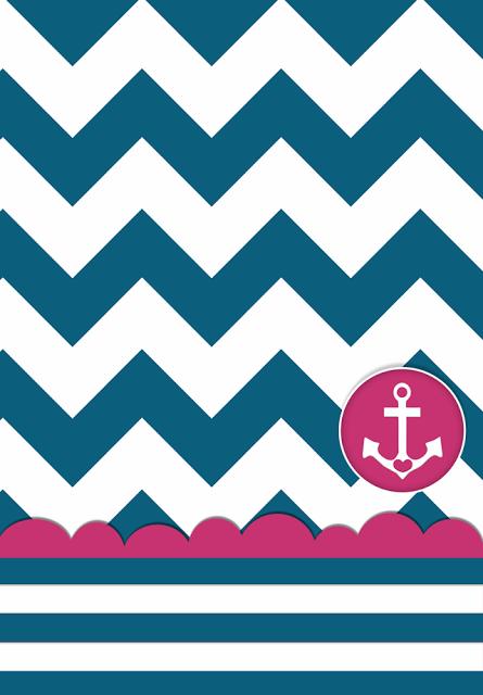 Chevron Wallpaper With Anchor Include anchor wallpaper 445x640