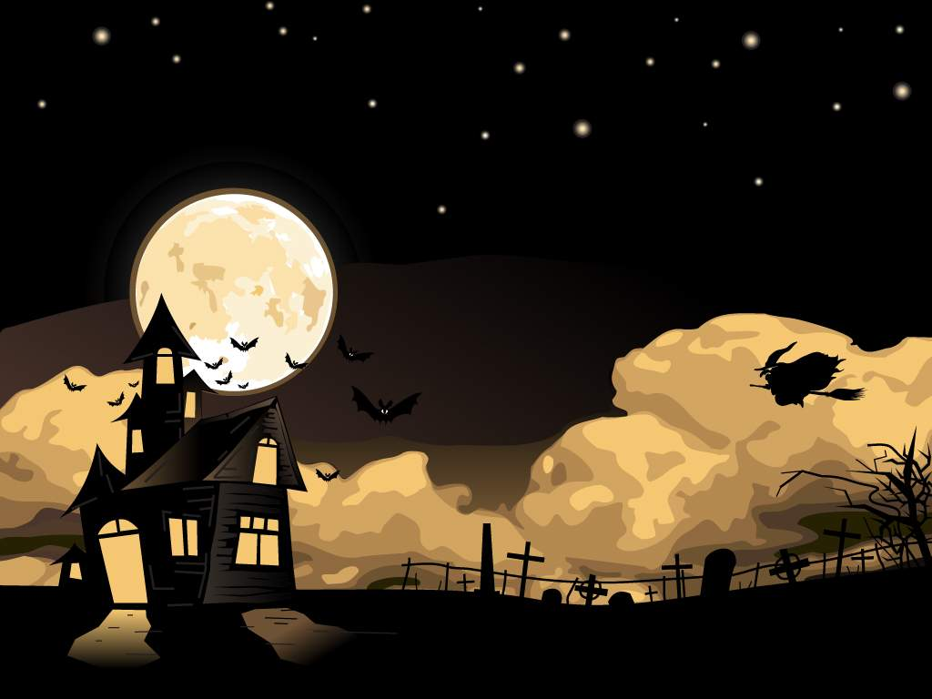 Learned I Share 2012 Halloween WallpapersPowerPoint Templates 1024x768