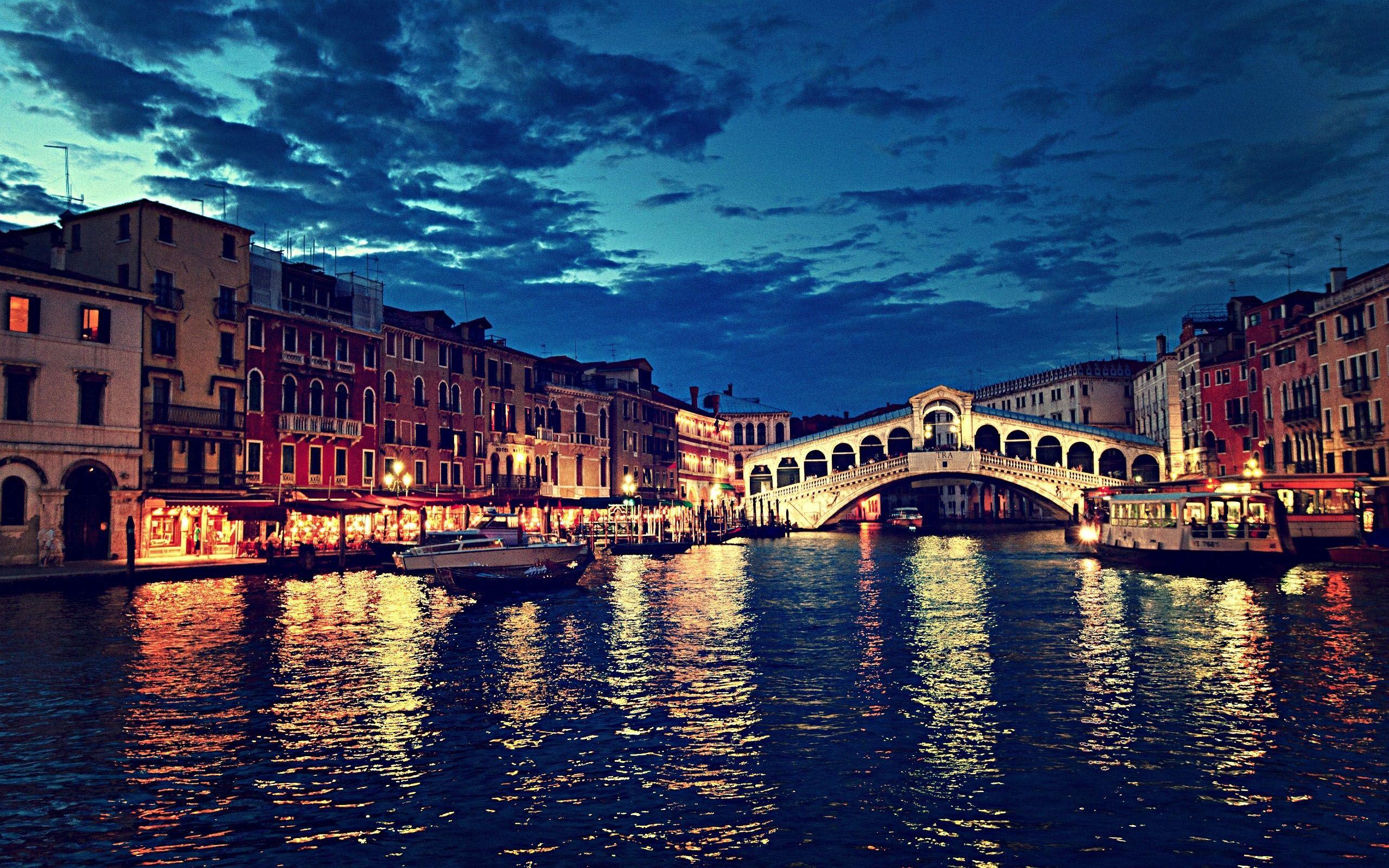 Sunset Over Grand Canal, Venice, Italy  № 1471231  скачать