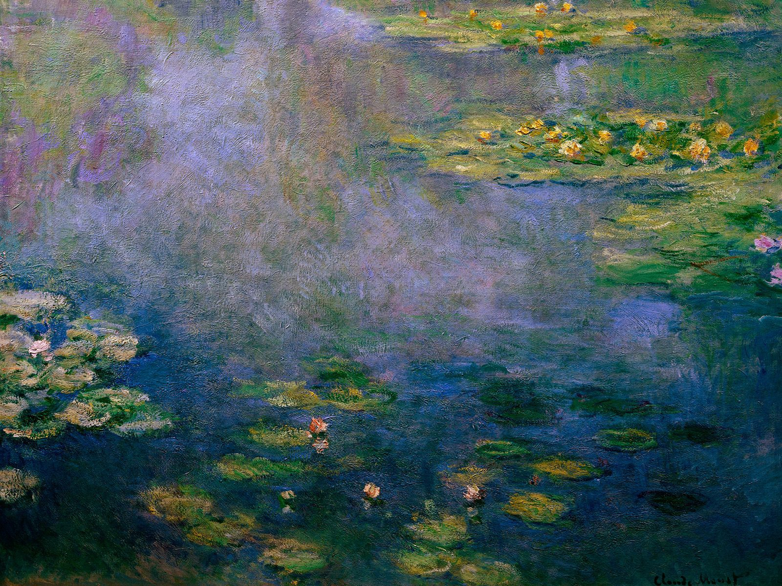 Drawn wallpapers   Paintings Painting Claude Monet   Water Lilies 1600x1200