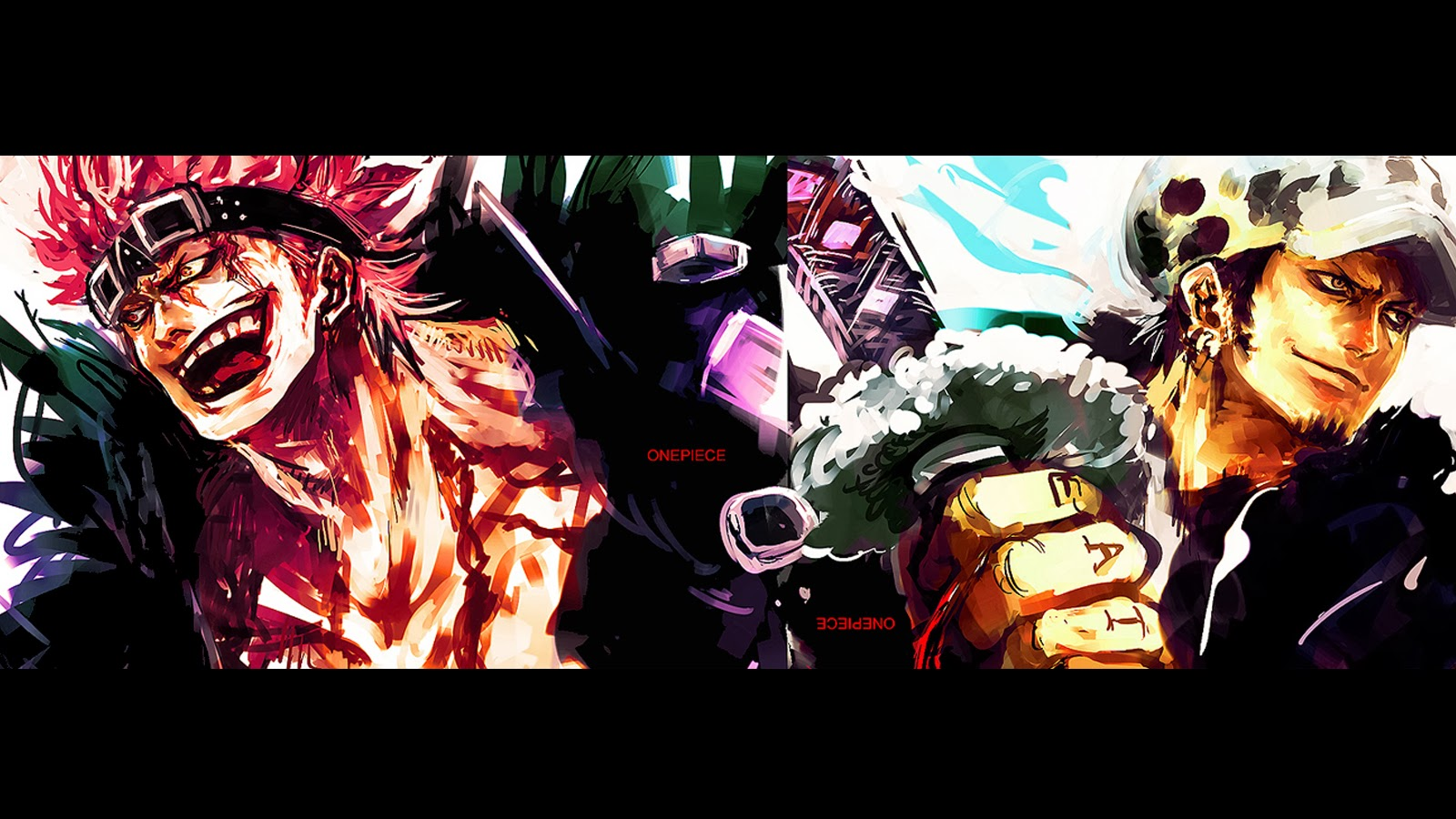 Eustass Kid Tralfagar Law Katana anime hd wallpaper y01 1600x900
