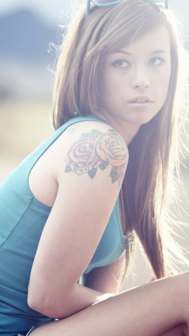 Cute Tattoo Girl Iphone Wallpaper Nude and Porn Pictures   Anglerzcom 640x1136