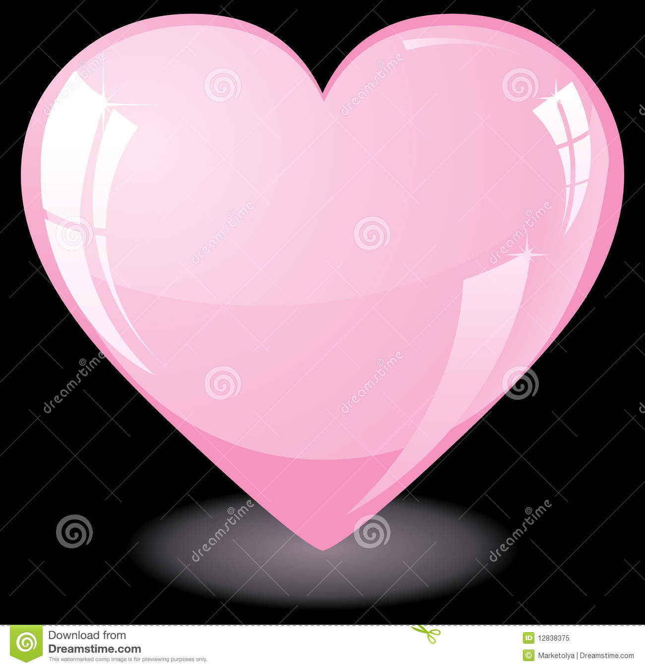 Pink Heart On Black Background Royalty Stock Photo   Image 1300x1347