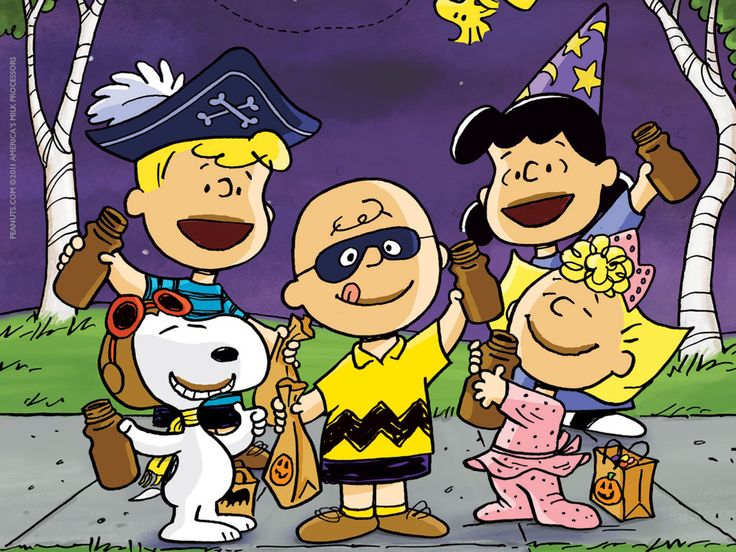 wallpaper 1024x768jpg Peanuts Gang Got Milk Halloween costumes 736x552
