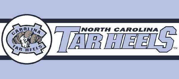 North Carolina Tarheels UNC 7 Tall Wallpaper Border 600x267