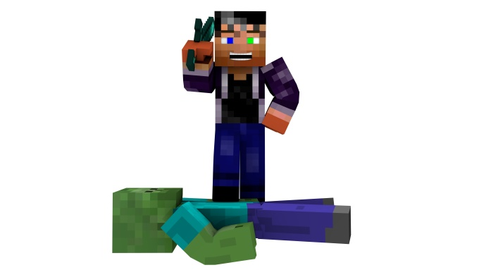 will create a 3d minecraft wallpaper with your skin for 5 in 680x383