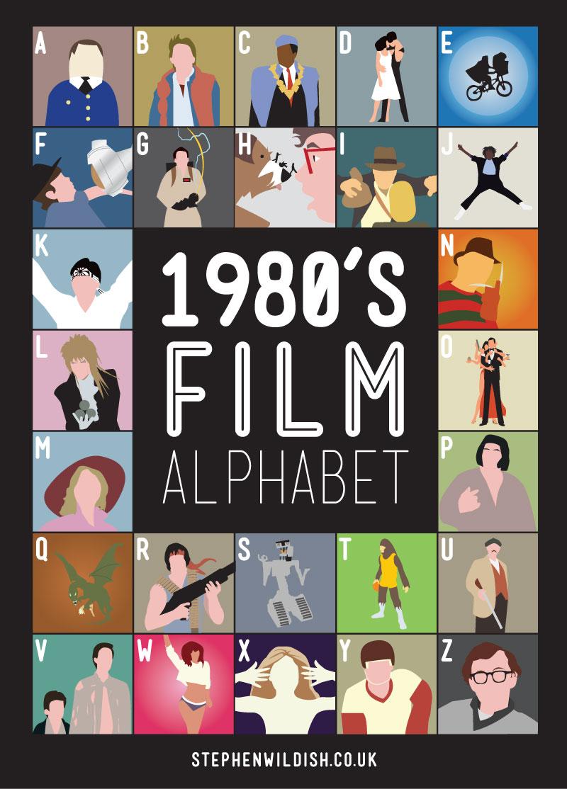 Movie Quiz 80s and 90s Film Alphabet Jennys Noodle 800x1114