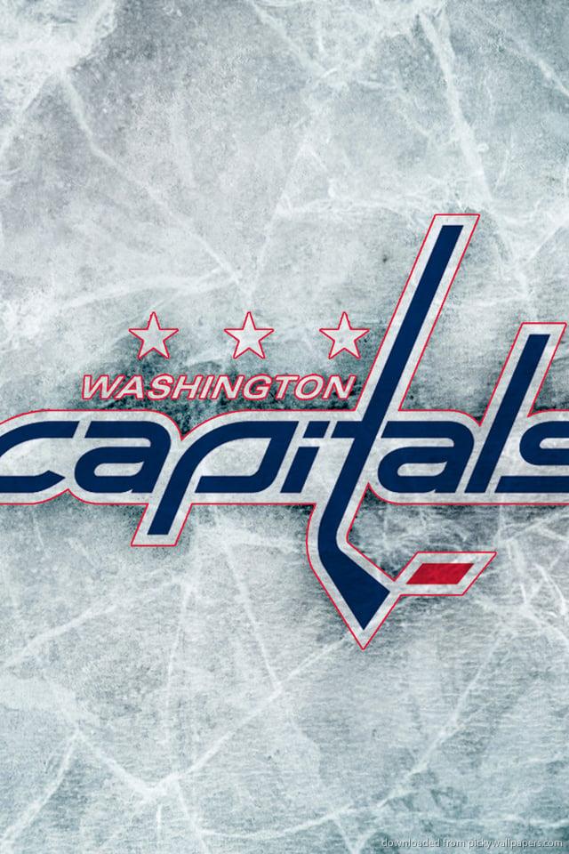 Download Washington Capitals Logo Wallpaper For iPhone 4 640x960