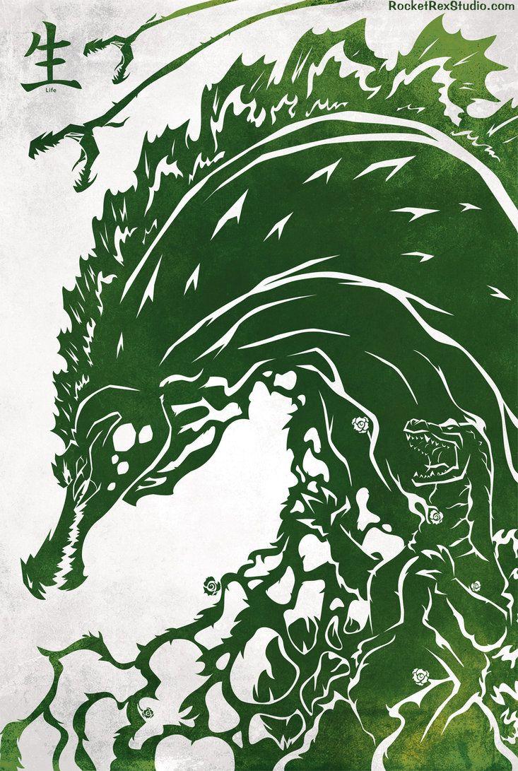 Godzilla versus Biollante by MyPetDinosaur Godzilla Godzilla 733x1091