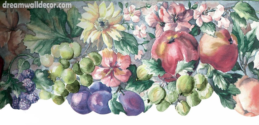Home Mixed Fruits Wallpaper Border 900x436