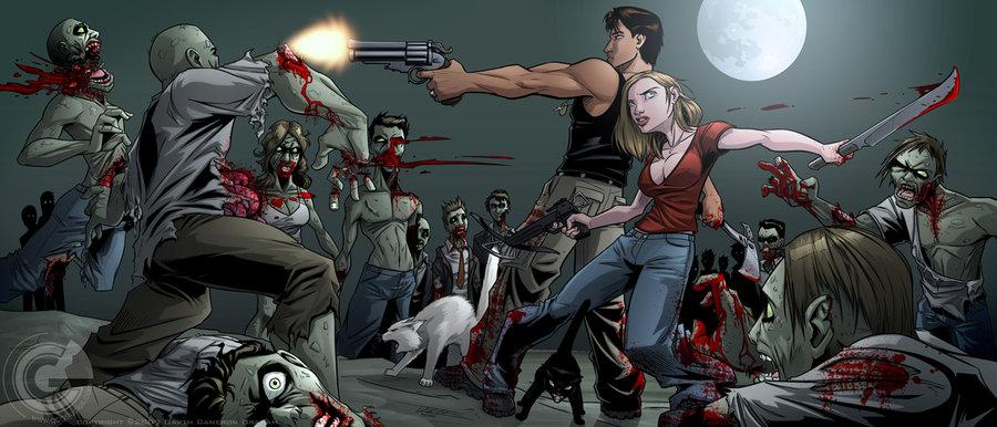Zombie Apocalypse by GarthFT 900x386