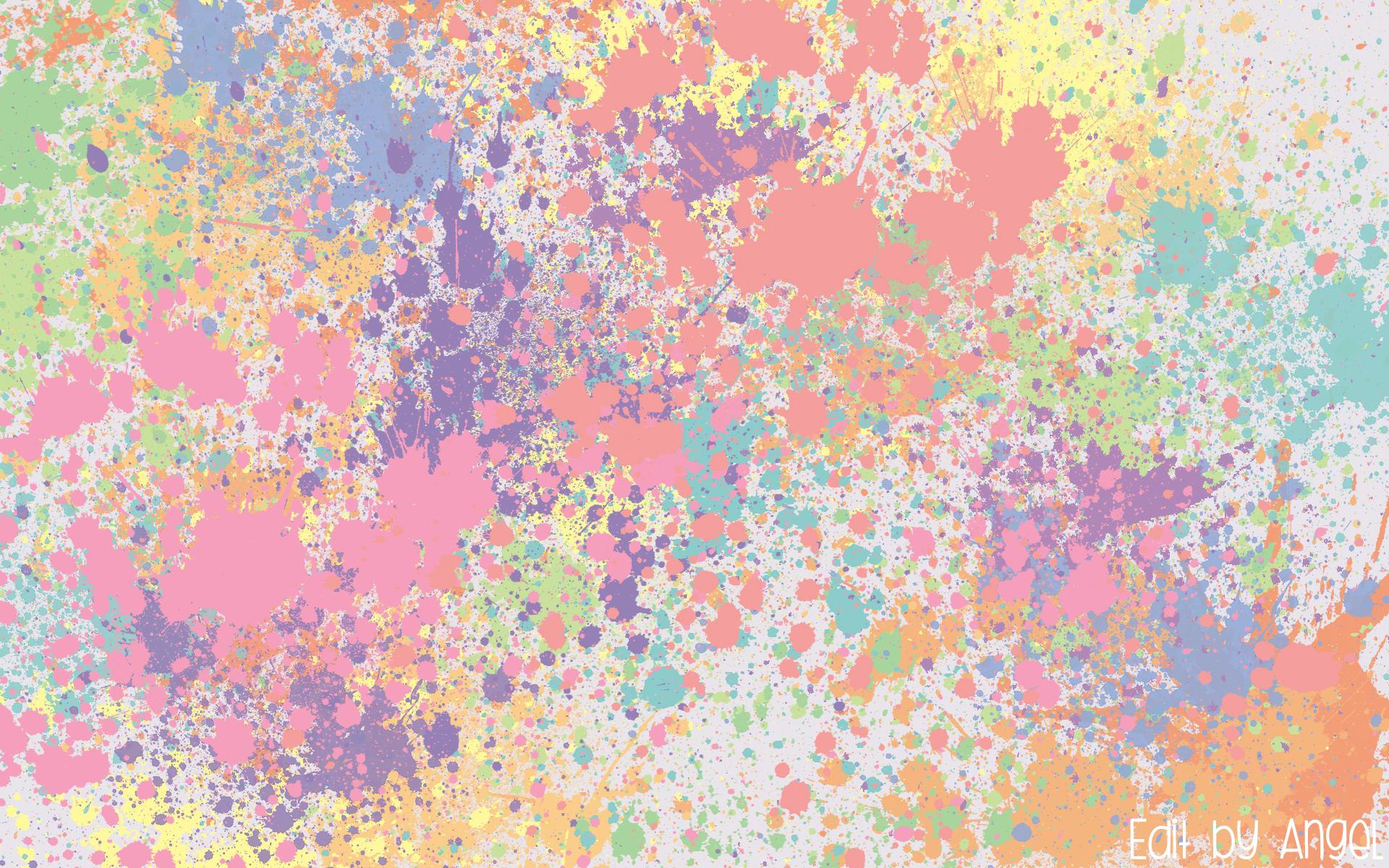 Pastel Splat Wallpaper by foolish angel 1920x1200