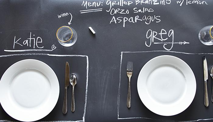 DIY Your Way Organized with Chalkboard Wallpaper 700x400