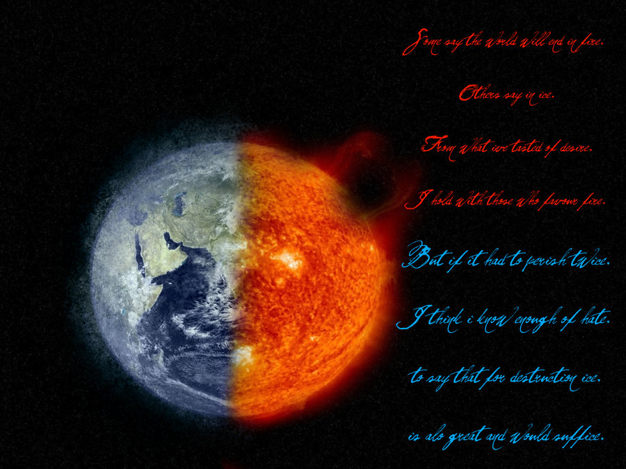 Fire And Ice Robert Frost Wallpaper Fire and ice by melciah1791 900x675
