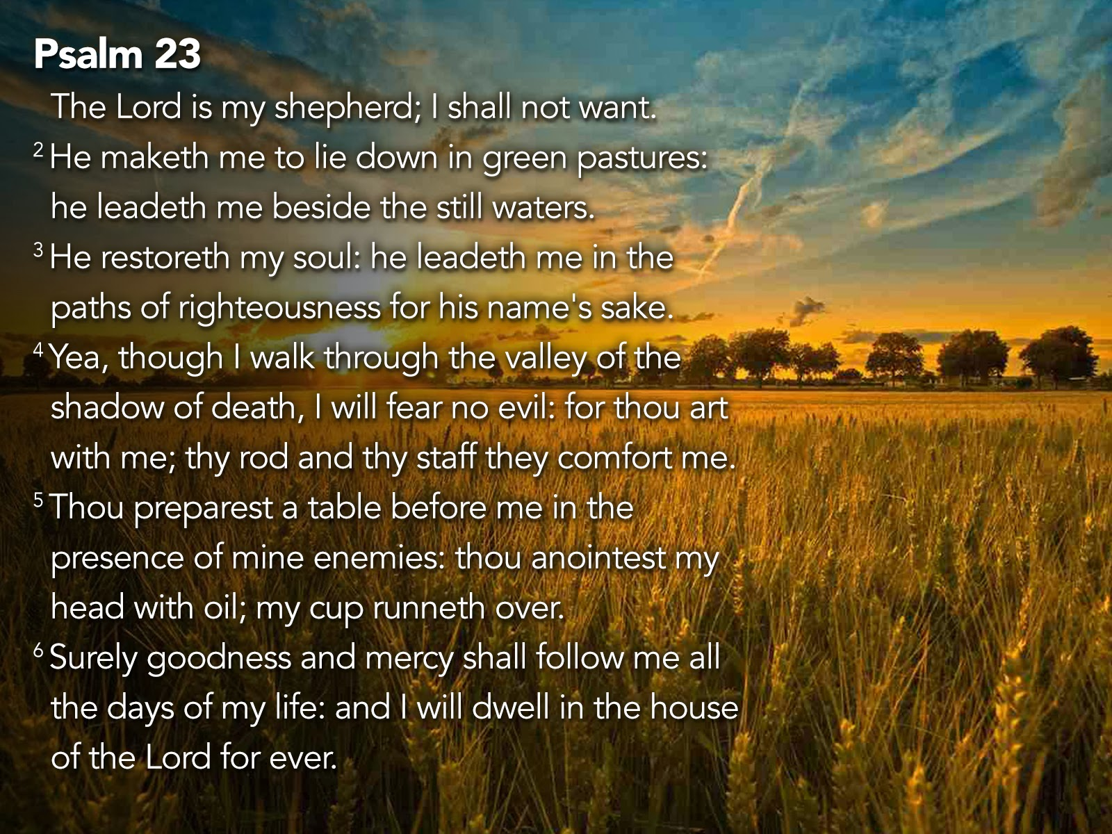 Psalm 23 Images The 23rd psalm which is 1600x1200
