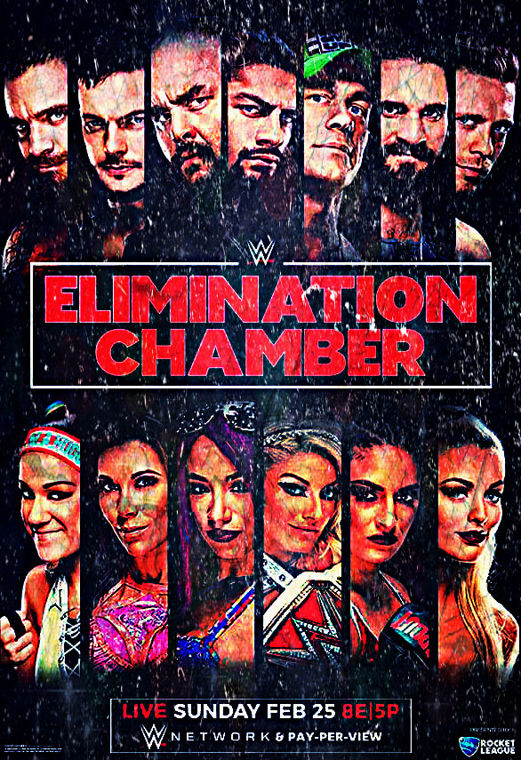 WWE Elimination Chamber 2018 Poster Wallpaper by AmbriegnsAsylum16 586x855