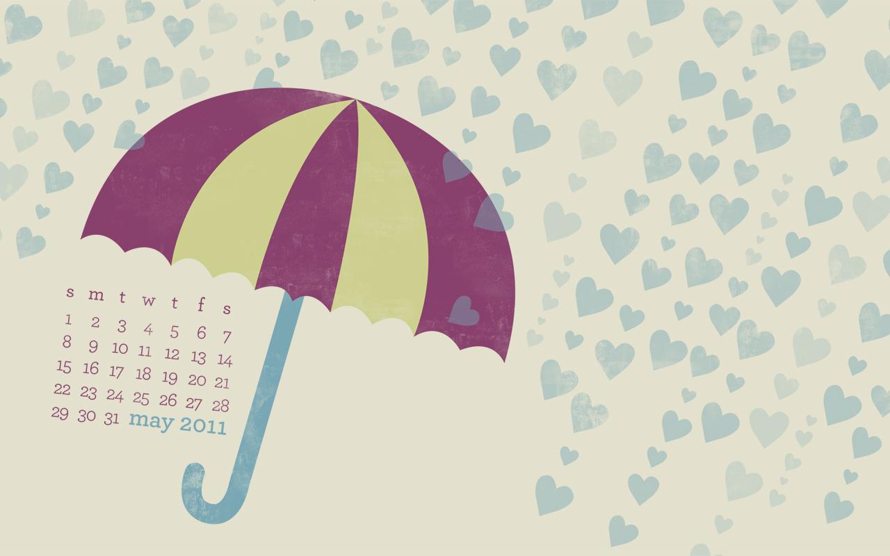 Sarah Hearts   Monthly Calendar Desktop Wallpaper 1280x800
