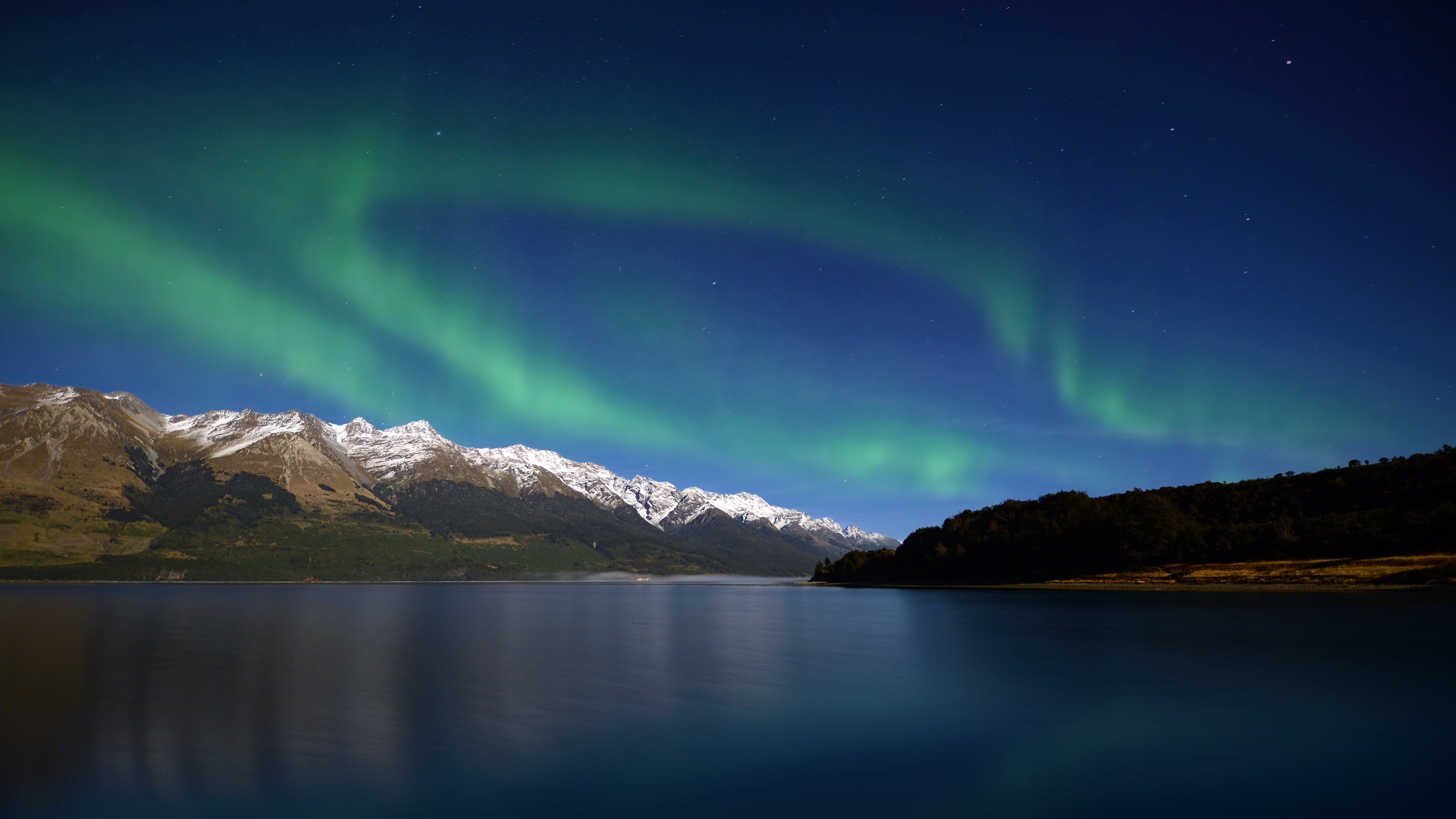 Aurora Mountains Wallpapers HD Wallpapers 3840x2160