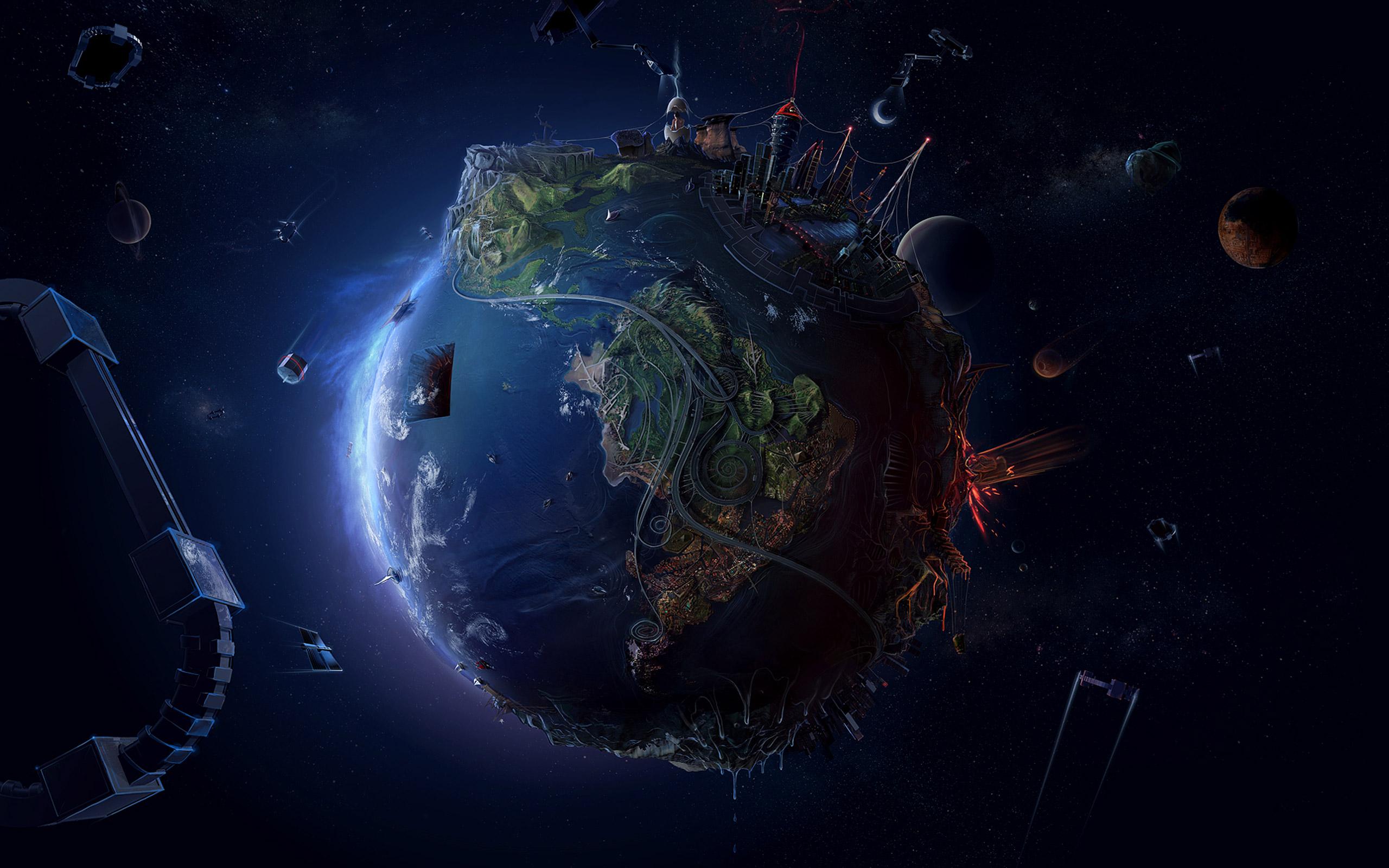 Earth at Night Wallpaper hd hd Wallpaper Earth Night 2560x1600