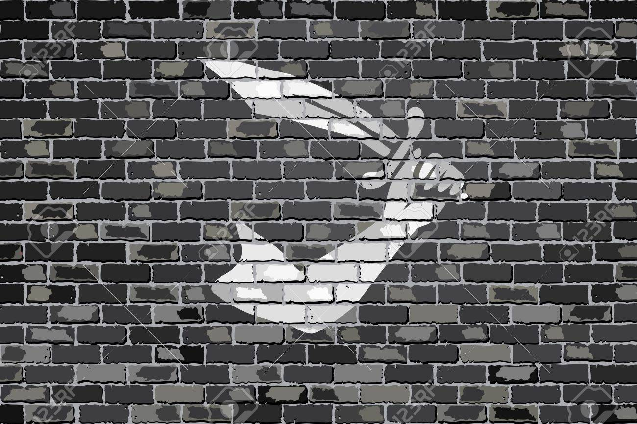 Pirate Flag On A Brick Wall   Illustration Thomas Tew Pirate 1300x866
