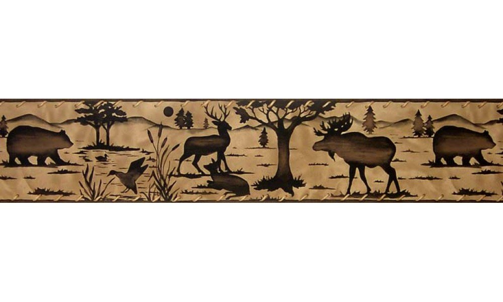 Home Animal Borders Deer Moose Animals Wallpaper Border 1000x600