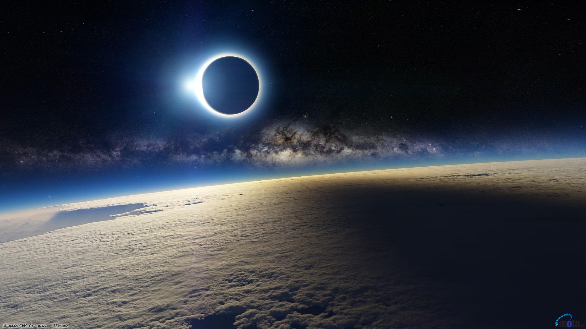 Download Wallpaper 3D Solar Eclipse 1920 x 1080 HDTV 1080p Desktop 1920x1080