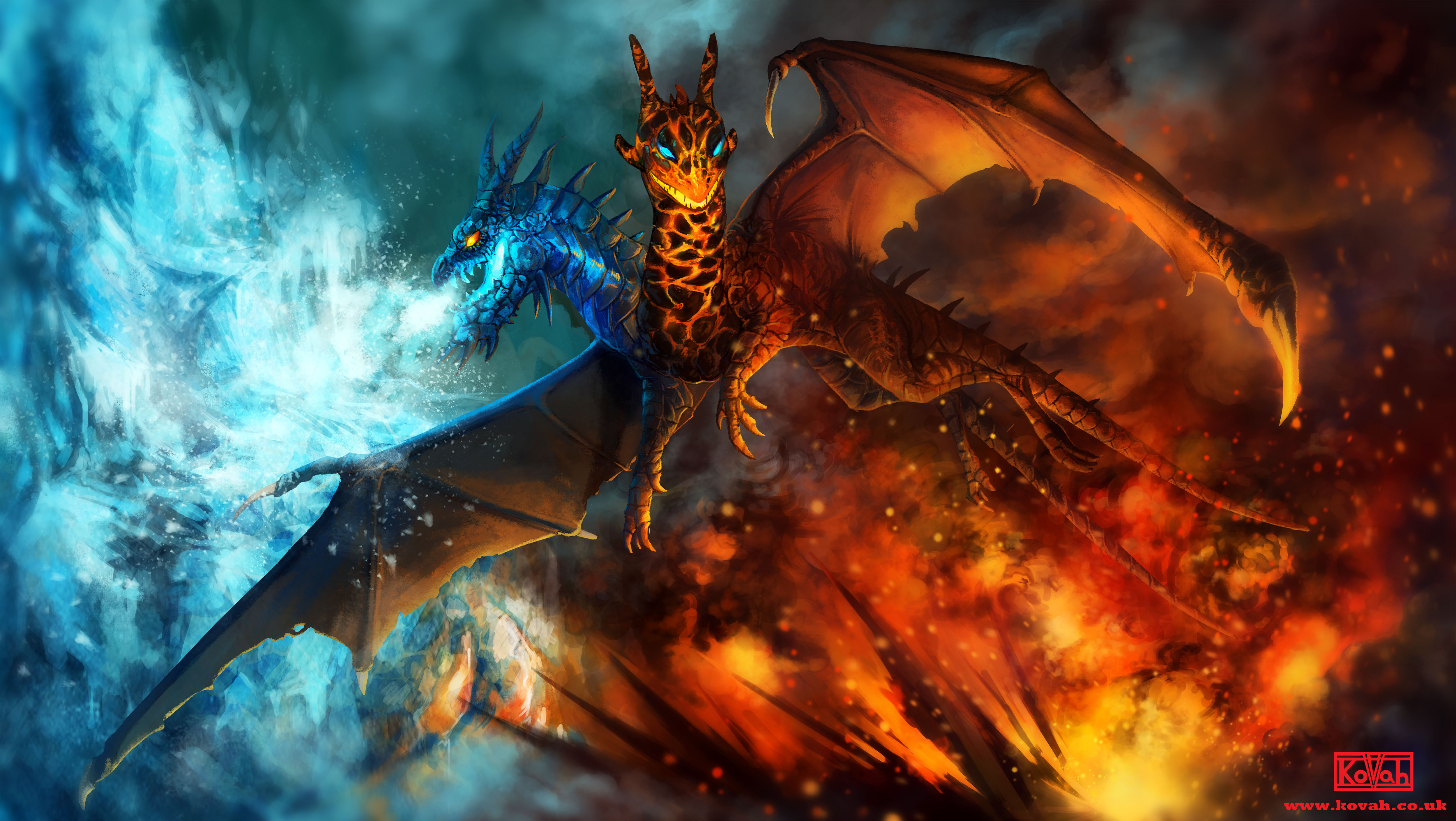 Jakiro The song of Fire and Ice Wallpaper Dota 2 HD Wallpapers 5000x2819
