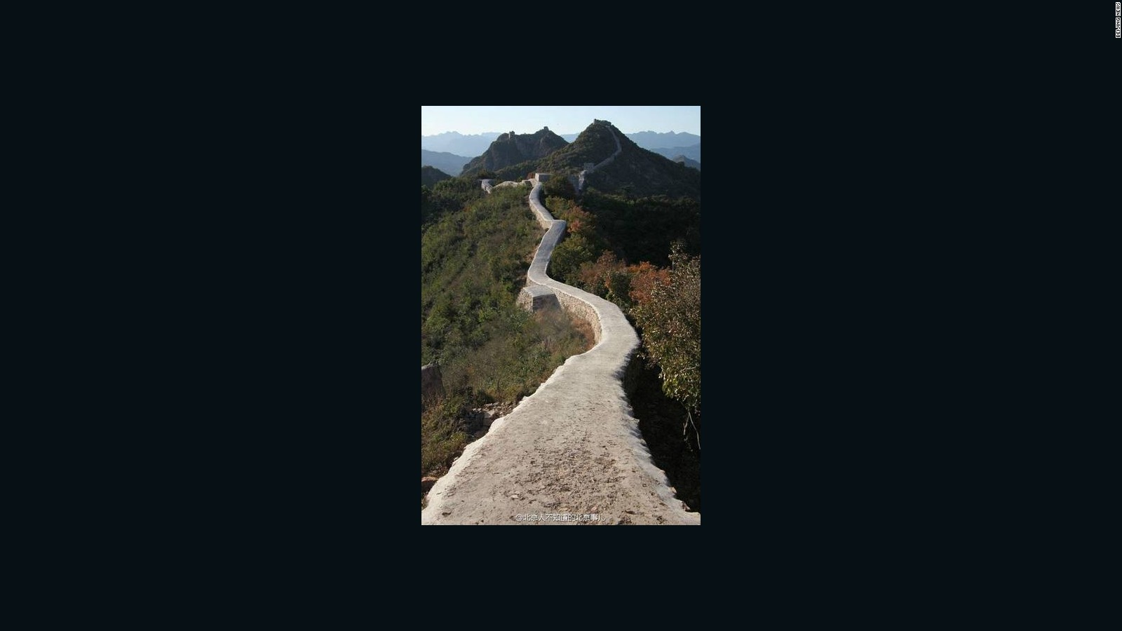 Chinas Great Wall covered in cement CNN Travel 1600x900