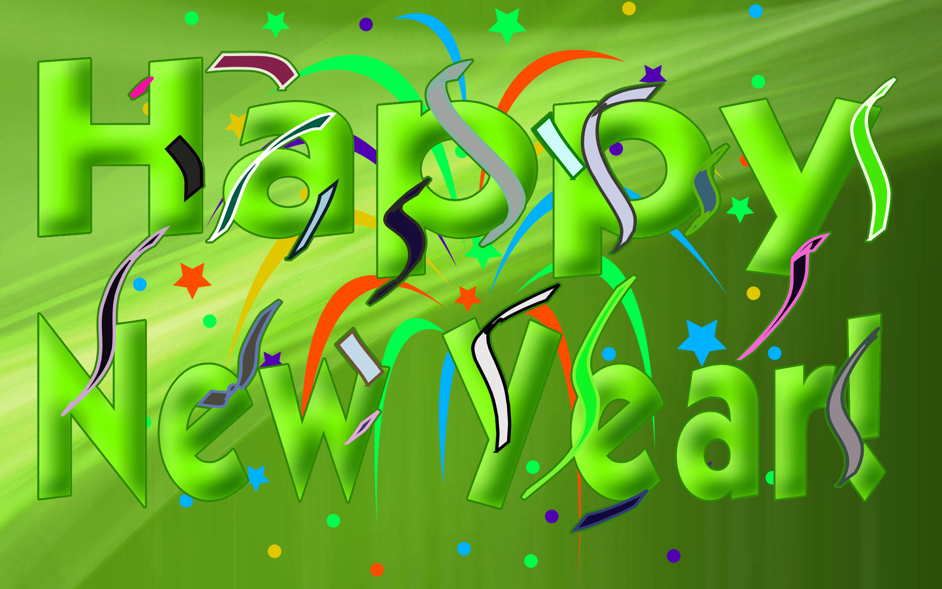 Green Font Happy New Year HD Wallpaper   HD Wallpapers 1920x1200