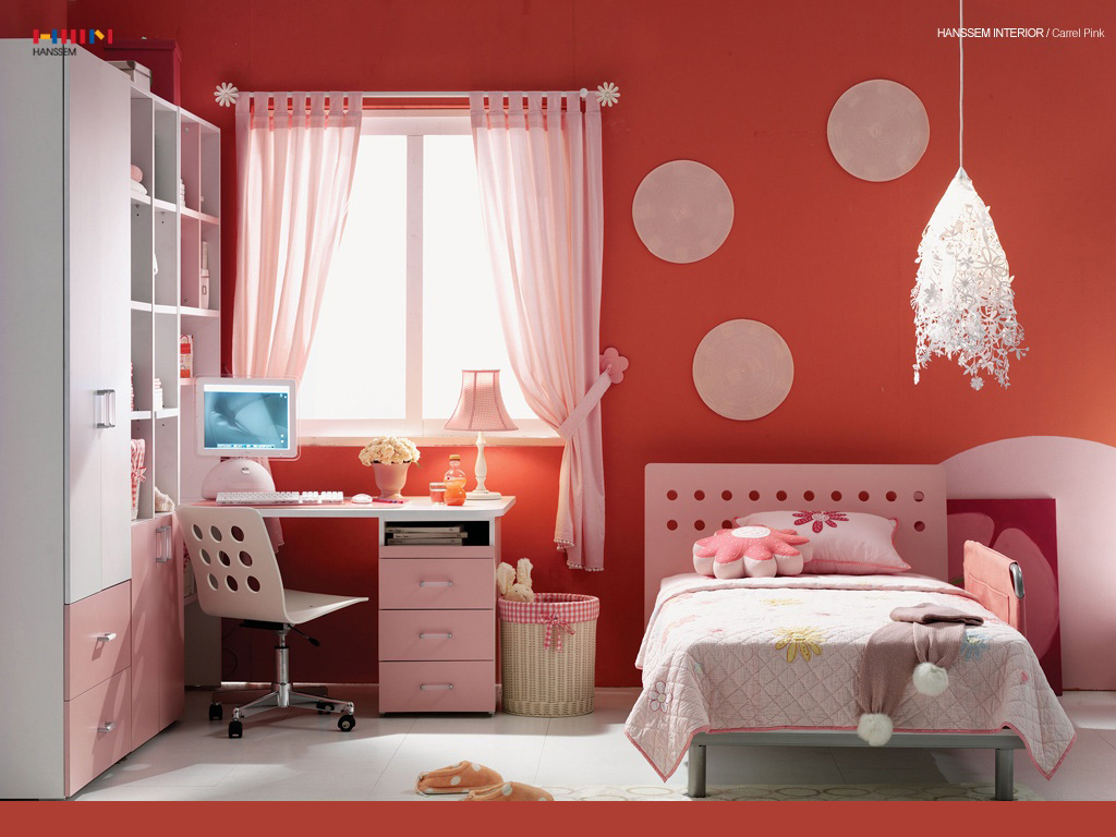 Beautiful Wallpaper A Pink Room For Your Girl Free Wallpaper World