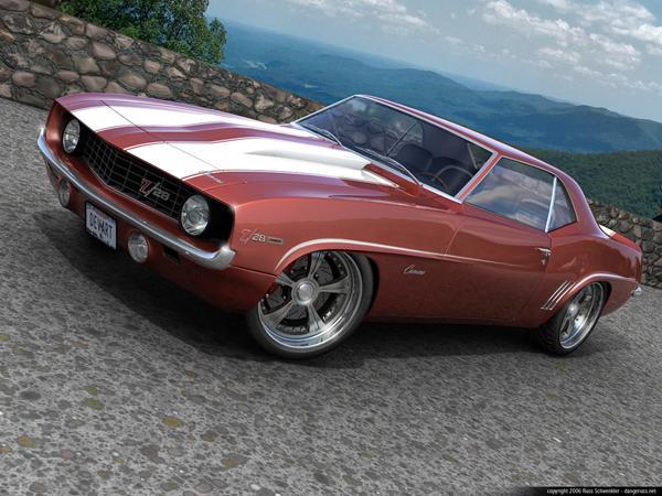 Full HD Wallpaper   Camaro Cars Chevrolet Vectors Year 1969 by 600x450