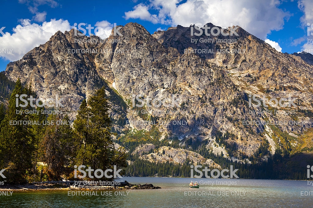 Jenny Lake With Grand Tetons In Background Stock Photo   Download 1024x683