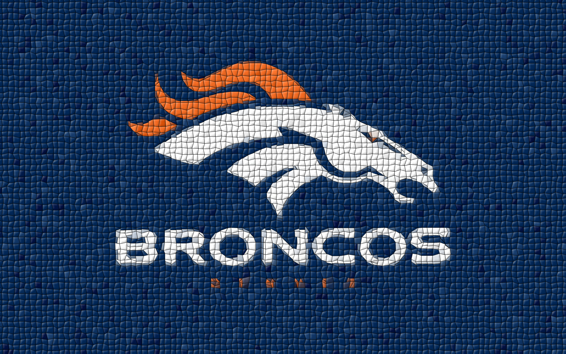 Denver Broncos Logo Mosaic Tiles 1920x1200 WIDE NFL Denver Broncos 1920x1200