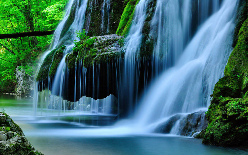 Prepasted Wallpaper Mural TV Photo Wall Covering Decor Waterfall 2 1x1 1000x625