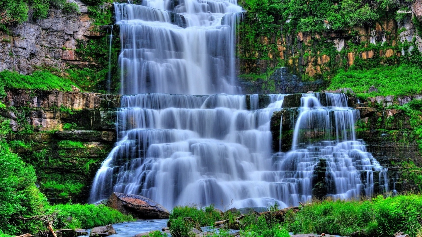 Waterfalls slideshow desktop wallpaper wallpapersafari - Nature wallpaper of waterfall ...