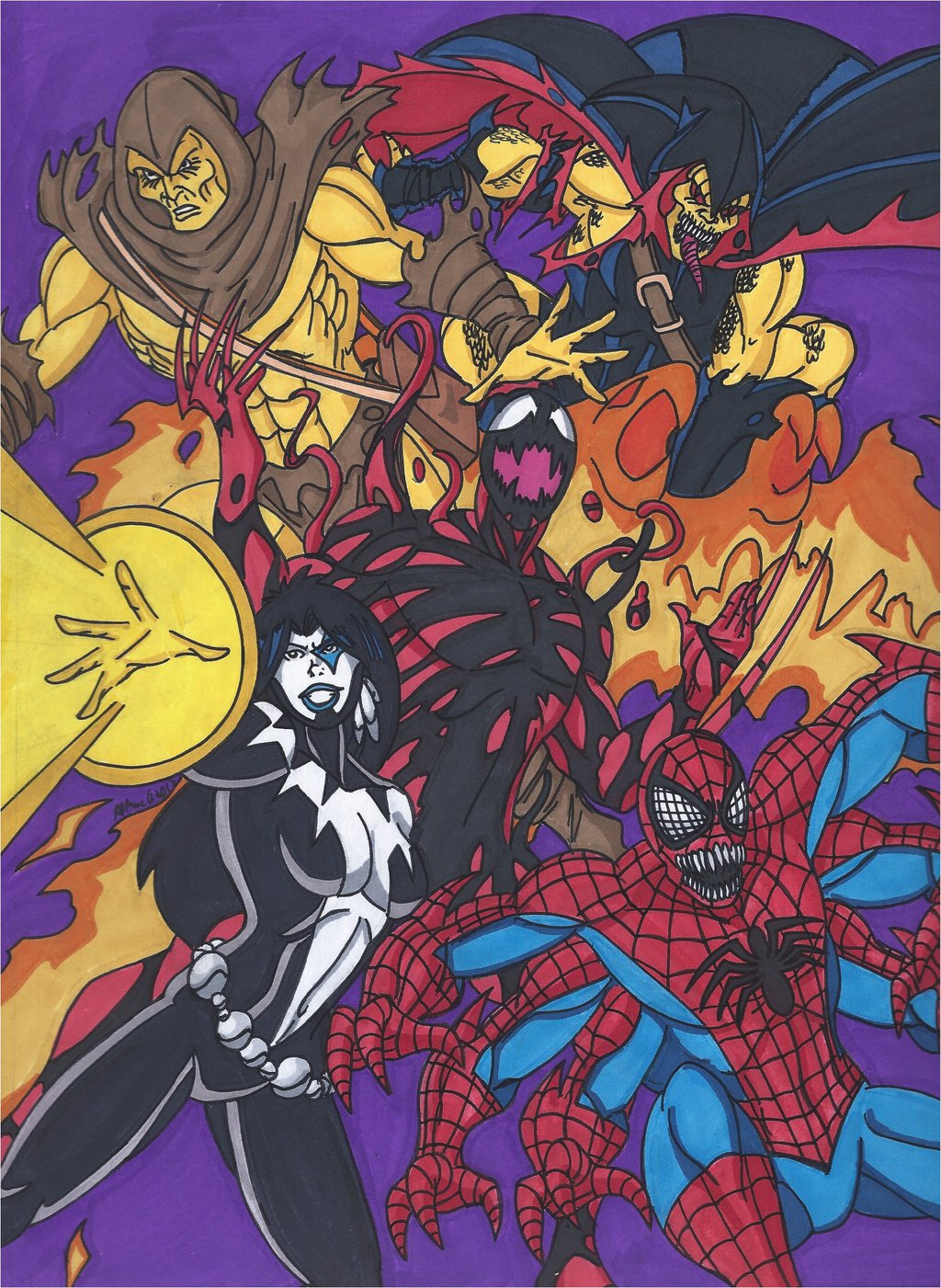 Maximum Carnage Tribute Part 5  Team Carnage by RobertMacQuarrie1 on 1024x1401
