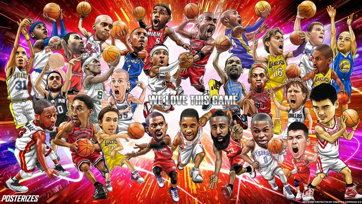 NBA Cartoon Wallpaper