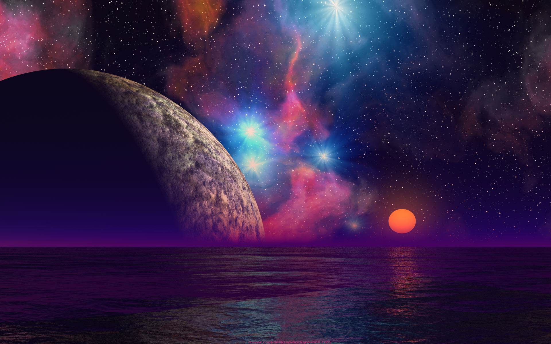 alien sunset backgrounds cool planets scifi desktop wallpaper 1920x1200
