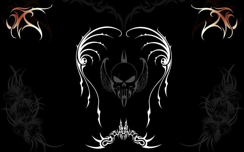 HD Flying Skull Wallpaper Download   110235 800x500