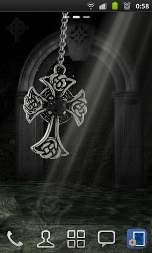 View bigger   3D Celtic Cross Wallpaper for Android screenshot 307x512