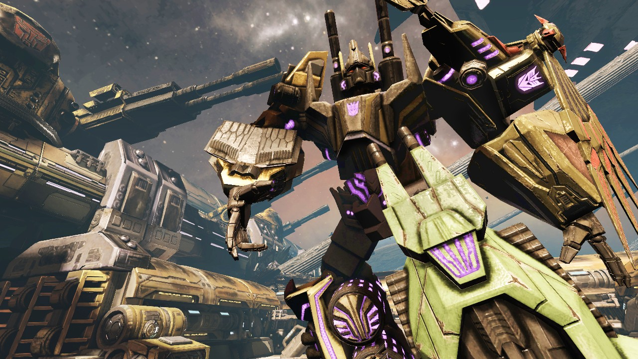 wallpaper with title Transformers fall of cybertron bruticus spotlight 1280x720