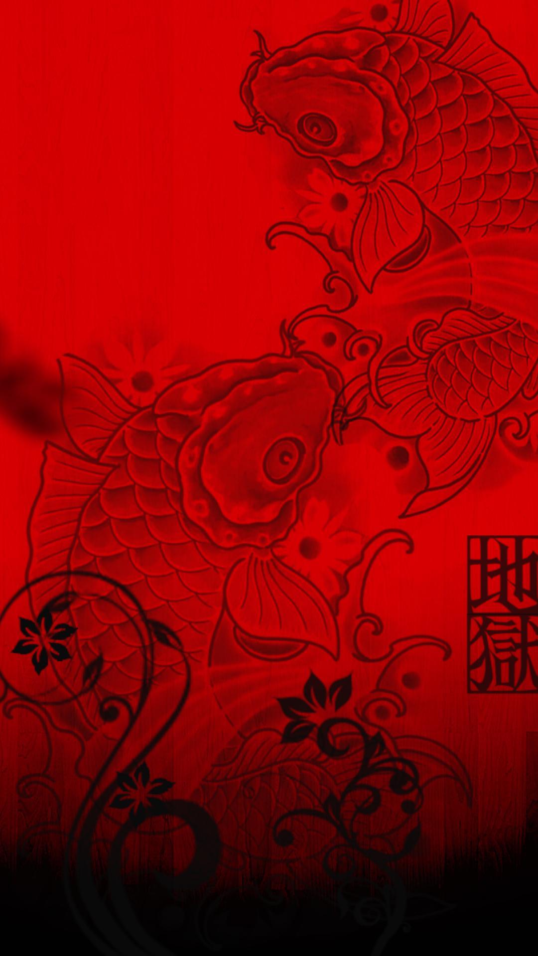 Black suit red tie wallpaper