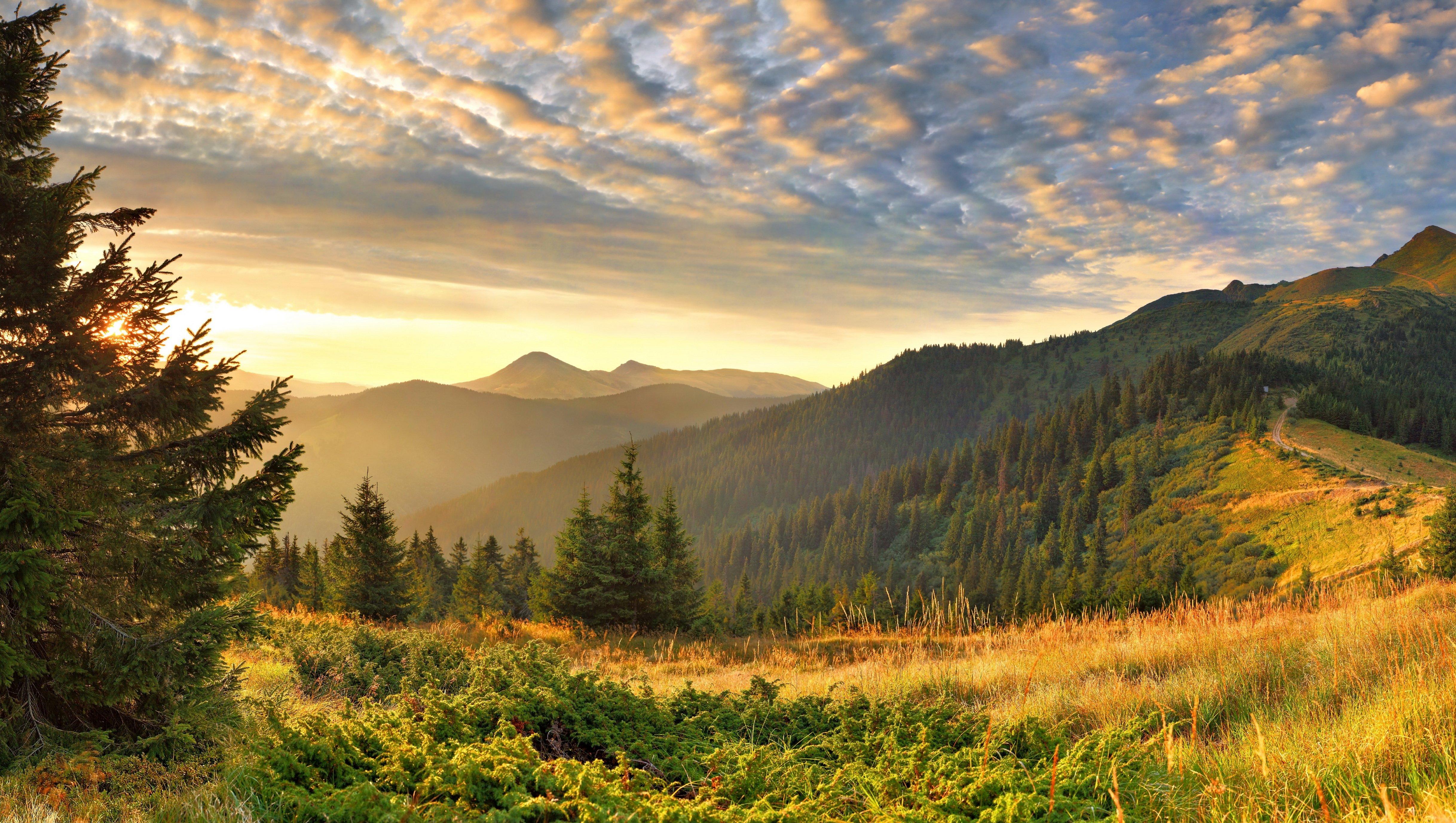 Scenery Sky Mountains Grass Nature wallpaper 4872x2756 175148 4872x2756