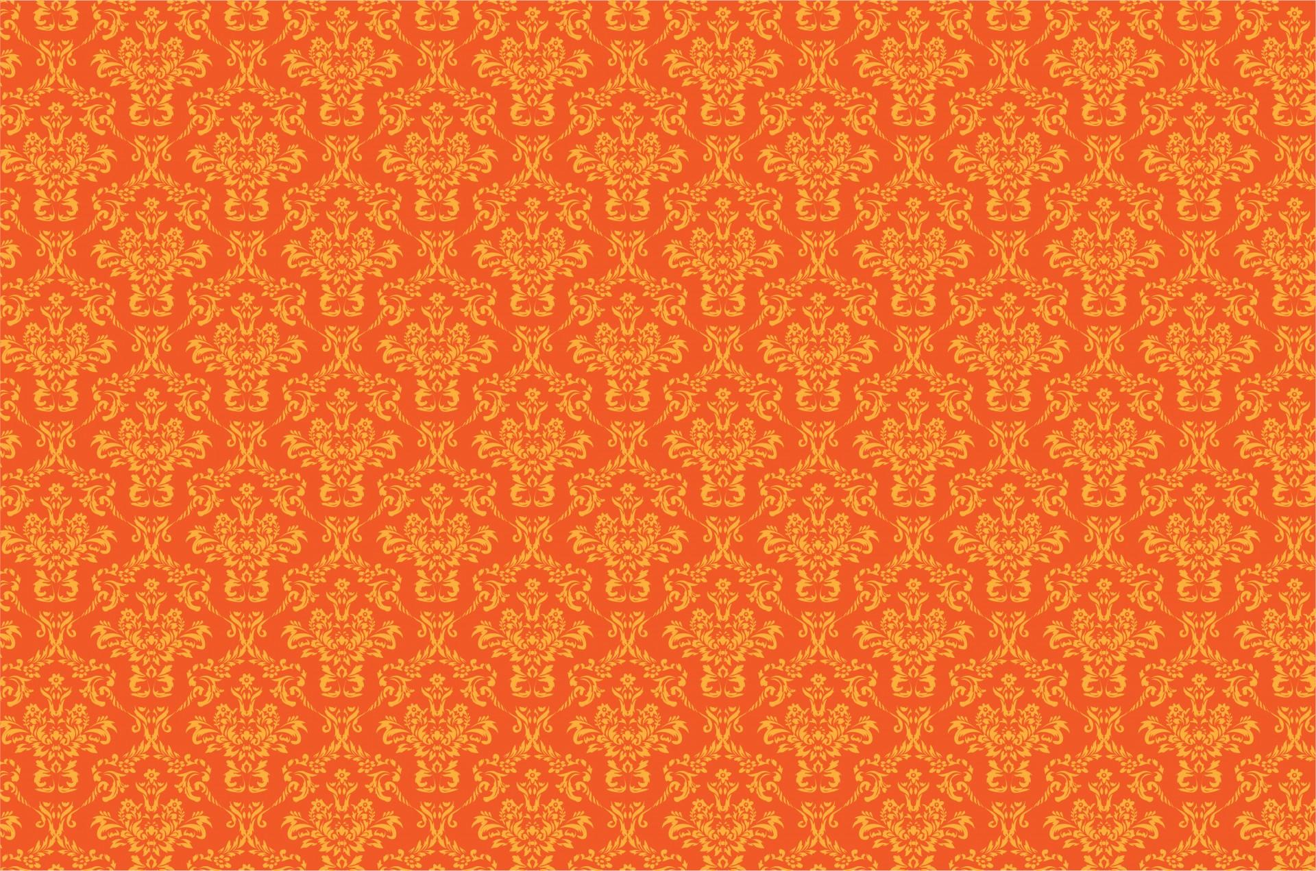 Damask Pattern Background Orange Stock Photo HD   Public Domain 1920x1271