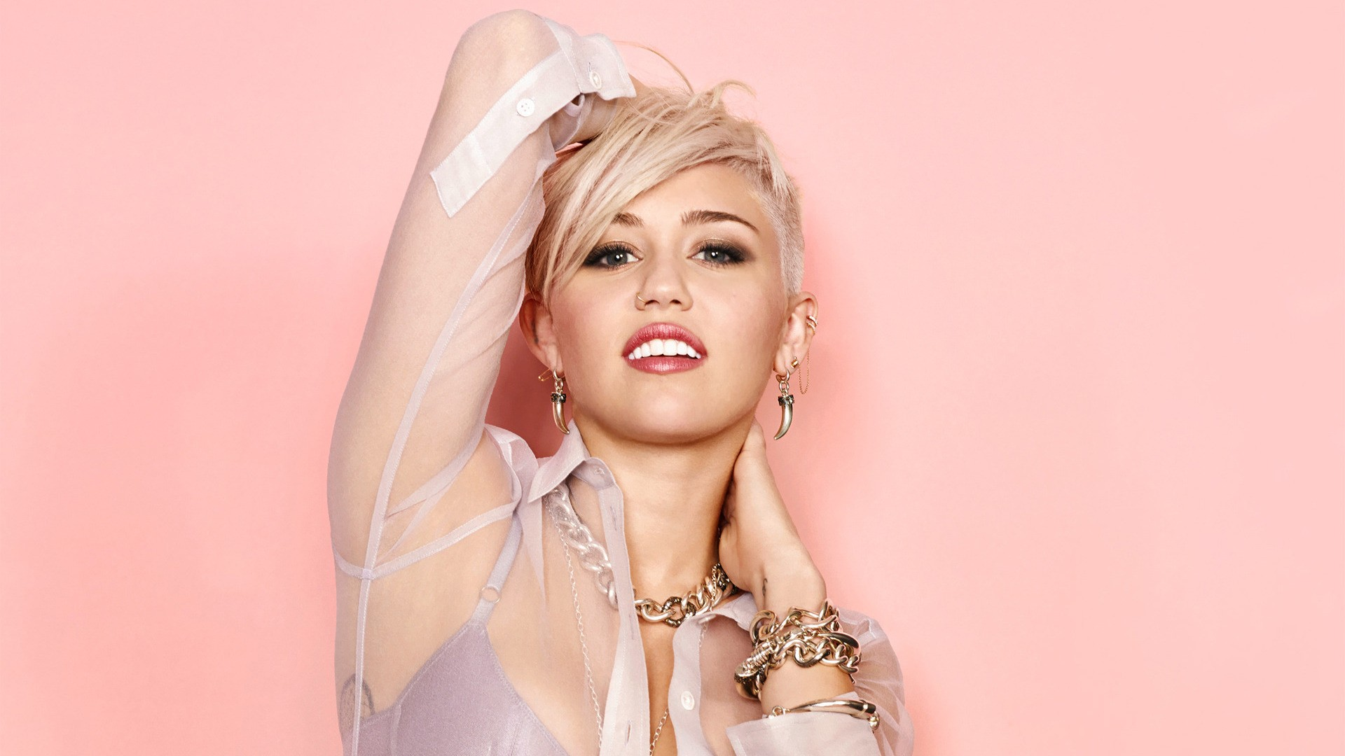 Miley Cyrus Short Hair   Wallpaper High Definition High Quality 1920x1080