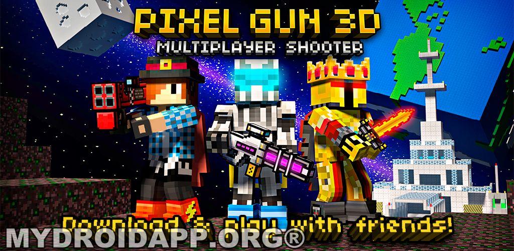 Hacked] Download Pixel Gun 3D PRO Minecraft Ed v711 [Mega Mod 1024x500